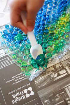 Bubble wrap print!