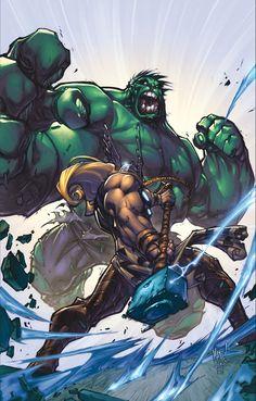 Thor vs Hulk (Onslaught - Heroes Reborn) by Joe Madureira