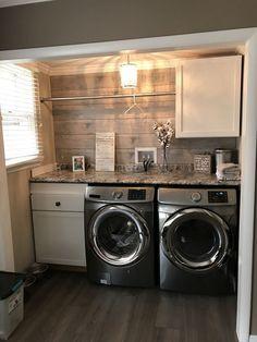 The cutest laundry room closet! #laundry #laundrycloset #shiplap #laundrynook #t... - #Closet #cutest #Laundry #laundrycloset #laundrynook #Room #Shiplap