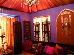 plum sofa with moroccan colours - Google Search