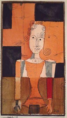 Paul Klee, Piccolo ritratto a quadretti neri, 1921.