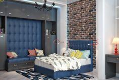 Проект: Необычное решение для спальни мальчика подростка — NIna Romaniuk — MyHome.ru