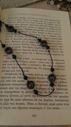 Αιματίτης στρογγυλός και μαύρος όνυχας για υπέροχες εμφανίσεις#handmadejewelry#handmadebyme