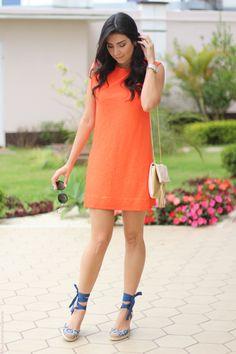look vestido laranja e espadrille fashion estilo moda borboletas na carteira-7
