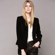 Autumn Style Slim Button OL Coat Black