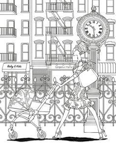 Fashion Coloring Page Find This Pin And More On Book