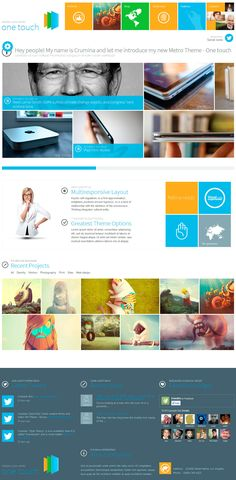 One Touch - Multifunctional Metro Stylish Theme - Main page of One Touch Theme.