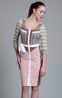 Multi Short Sheath Dress by Byron Lars Beauty Mark BL3568