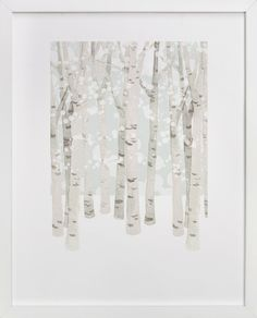Birch Woods in Winter  | Print and frame from minted.com