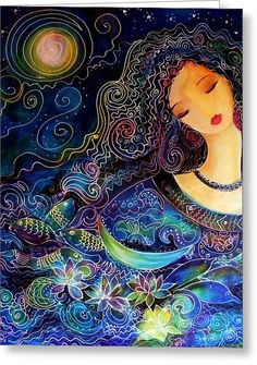 Goddess of Water Painting by Ronnie Biccard - Goddess of Water Fine Art Prints and Posters for Sale Fantasy Kunst, Fantasy Art, Art Fantaisiste, Goddess Art, Earth Goddess, Moon Goddess, Illustration, Fine Art, Moon Art