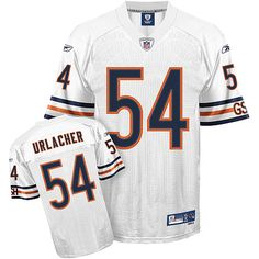 Reebok Chicago Bears Brian Urlacher Premier White Jersey University Of New Mexico, White Jersey, National Football League, Chicago Bears, American Football, Reebok, National Soccer League, Football