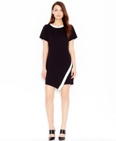Bar III Contrast Envelope Dress, Only at Macy's