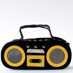 Boom Box Bag Black now featured on Fab.