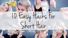10 Easy Hacks For Short Hair | Milabu