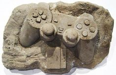 Christopher Locke, a talented artist crafted these fossil-like sculptures inspired by those iconic, old-school gadgets including game controllers, telephone, cassette tape, Gameboy, cell phone, iPod and more.