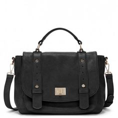 Women's Brown Vegan Leather Vegan Leather Messenger | Presley by Sole Society