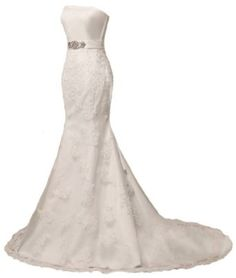 Faironly Ivory Mermaid Lace Wedding Dress Bridal Gown