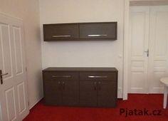 Materiál Fineline tmavé .  Realizace Brno Kitchen Cabinets, Storage, Furniture, Home Decor, Purse Storage, Decoration Home, Room Decor, Cabinets, Larger