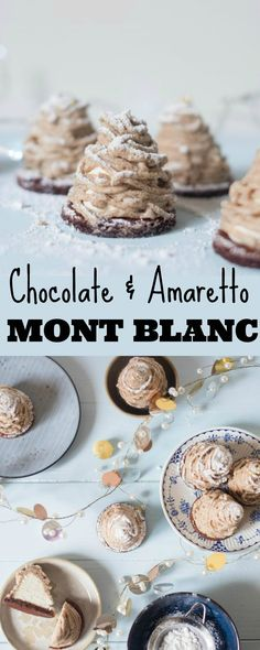 Chocolate and Amaretto Mont Blanc - Patisserie Makes Perfect
