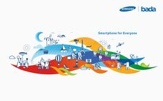 Samsung OS 'bada' Graphic Motif on Behance