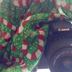 Camera Scarf & Candy Canes...How Sweet It Is  @thecamerascarf