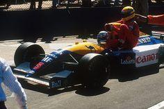 Nigel Mansell , Ayrton Senna  Silverstone 1991
