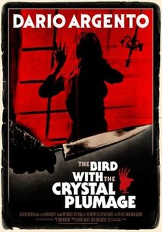 The Bird with the Crystal Plumage Dario Argento, Theatrical Onesheet / Movie Poster for Nonstop Entertainment, design by Kellerman Design. Horror Movie Posters, Horror Films, Horror Stories, Horror Font, Hd Movies, Film Movie, Movies Online, Dario Argento, Non Plus Ultra