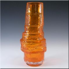 Whitefriars/Baxter Tangerine Glass Hooped Vase 9680 - £299.99