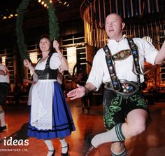 Read about the Oktoberfest Celebration special event we put together. Guests were greeted by costumed actors in Lederhosen as they entered the venue. German Beer, Beer Tasting, Lederhosen, Corporate Events, Special Events, Celebration, Actors, Fun, Fashion