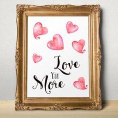 Valentine card Romantic Valentine printable Love by AlniPrints