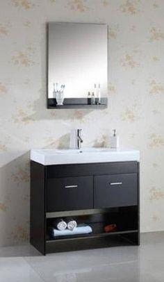 36 Inch Single Sink Vanity With Espresso Finish and Ceramic Top UVVU55536