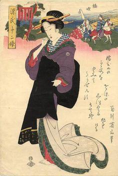 (Japan) by Kikugawa Eizan  (1787- 1867). woodblock print. ukiyo-e. colors on paper.