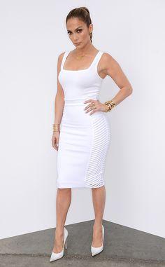 The White Stuff from Jennifer Lopez's American Idol Looks | E! Online