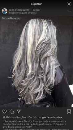 Curly Silver Hair, Silver Grey Hair, Grey Blonde Hair, Long Gray Hair, Blonde Highlights With Lowlights, Medium Hair Styles, Curly Hair Styles, Long Platinum Blonde, Icy Hair