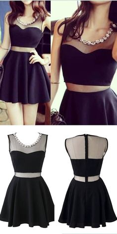 black homecoming dresses, short homecoming dresses, cheap homecoming dresses, chiffon homecoming dresses @veenrol