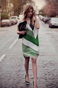 Green chic via LA COOL & CHIC! #laylagrayce #green #fashion