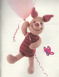 PATTERN: Piglet from Pooh and Friends - Crochet Pattern