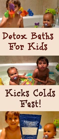 Cold Remedies How To Kick Colds Fast With A Detox Bath. A natural remedy that really works! - If you want to be prepared for a new flu season, I have an amazing tip for you: How To Kick Colds Fast With A Detox Bath For Kids. A natural remedy that works! Natural Home Remedies, Natural Healing, Herbal Remedies, Health Remedies, Holistic Healing, Natural Detox, Holistic Remedies, Bath Detox, Detox Bath Kids