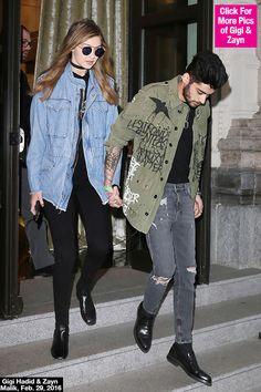 PIC] Gigi Hadid & Zayn Malik Holding Hands in Milan - Hollywood Life