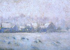 Claude Monet 1892-93 Snow Effect, Giverny...looks kinda like the east coast today!