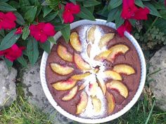 Torta-budino-cioccolato-pesche