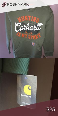 YOUTH CARHARTT HOODIE SIZE L NWT This is a youth Carhartt hoodie that is new with tags. Carhartt Shirts & Tops Sweatshirts & Hoodies