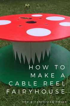 How to make a cable reel fairy house garden ideas eyfs How to make a cabl… - Modern Outdoor Learning, Outdoor Play, Outdoor Education, Outdoor Areas, Kids Learning, Cable Reel Ideas For Kids, Cable Reel Ideas Garden, Forest School Activities, Eyfs Activities