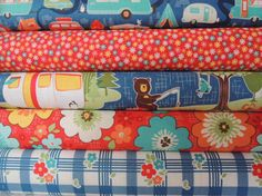 Rag Quilt Kit. This kit features all Cotton Quilting Fabric in Road Trip Camping Fabric by Riley Blake for the top of the quilt. Personalized, Fast Shipping  This quilt kit is sized for a baby or small child but can easily be made for an older child or adult by purchasing additional kits in the same or similar fabrics. Rag Quilts are Fun, Fast and Easy to make for anyone who knows how to use a sewing machine. The hardest part (cutting the pieces) is done for you! You can make this quilt in…