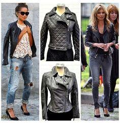 A fashion staple- the biker jacket! Biker, Leather Jacket, Jackets, Fashion, Studded Leather Jacket, Down Jackets, Moda, Leather Jackets, Fashion Styles