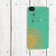 iPhone case Coral and Teal fits iPhone 4 4s  iPhone 5 by Arete, $16.00