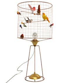 """Perfect accompaniment to your copy of """"Audobon's Aviary"""": Haute Volière Bird Cage Table Lamp via Liberty Londong"""