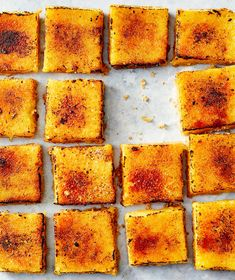 Brûléed Lemon Bars With Brown-Butter Crust Limoncello, Vegetarian Cooking, Cooking Recipes, Grilling Recipes, 5 Ingredient Desserts, Citrus Recipes, Water Recipes, Sweet Recipes, Butter Crust