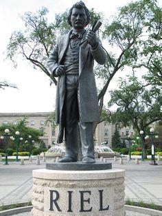 Louis Riel Statue-Winnipeg Manitoba Downtown...Louis Riel 's Biography: http://en.wikipedia.org/wiki/Louis_Riel