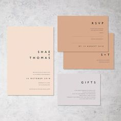 The ultimate in modern minimalist stationery. Simple yet effective : The ultimate in modern minimalist stationery. Simple yet effective Invite Design, Wedding Invitation Design, Stationery Design, Wedding Branding, Invitation Wording, Invites, Wedding Wording, Typography Wedding Invitations, Invitation Maker
